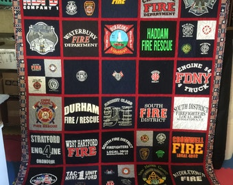 Tee Shirt Quilt Custom Made - Memory Quilt Made From 9 - 49 t-shirts