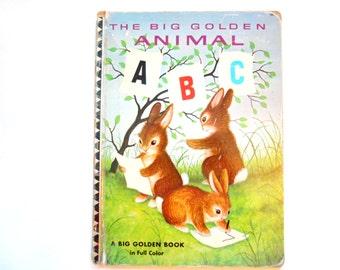 The Big Golden Animal ABC Book, a Vintage Children's Aphabet Book