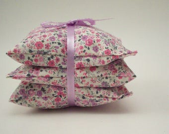 "Lavender Aromatherapy Sachets - Delicate Floral - Set of 3 Lavendar Drawer Freshener Bags - 3 3/4"" x 3 3/4"""