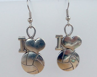 I Love Volleyball Earrings
