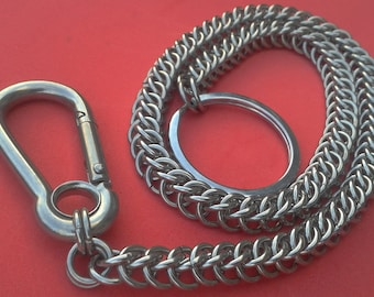 Wallet Chain, Half Persian 3 in 1 Stainless Steel Chainmaille / Chainmail Very Strong.  Gift Boxed.