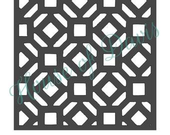 Diamond Lattice Stencil (Style 4) - 12x12