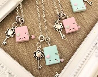 Kawaii Secret Diary Necklace Heart Key - Collana Diario Segreto Kawaii