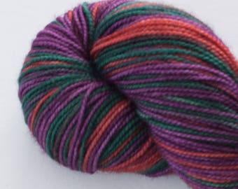 Ernestine Sock Weight- Kings Colors -Superwash Merino/Nylon Hand Dyed Yarn 400 yards