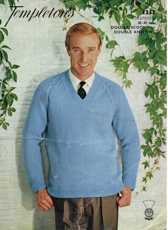 Mens sweater knitting pattern pdf download mens v neck jumper zoom bankloansurffo Image collections