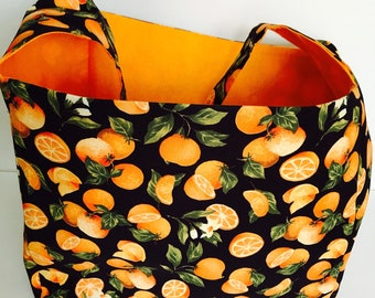 Extra large Handmade Reusable grocery tote, laundry bag, picnic bag, carry all