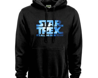Star Wars / Star Trek Hoodie for Movie fans - funny hood with HD print on a thick hood - 12435