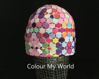 "Helmet Liner/Running Cap/Ski Cap  - ""Colour My World"""