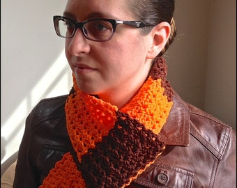 Orange and Brown Cleveland Browns Scarf