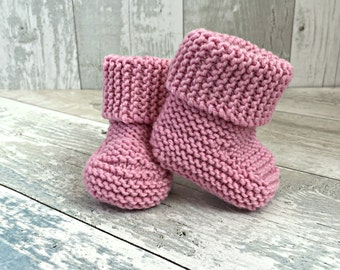 Baby Girl Boots, Knitted Baby Bootees, Newborn Girl Shoes, Baby Shoes Girl, Baby Girl Bootees, Girl Baby Shower Gift,  Newborn Girl Booties