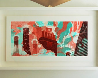 Rooftops - Archival Giclee Print by Eoin Ryan