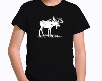 Moose sketch Children T-Shirt