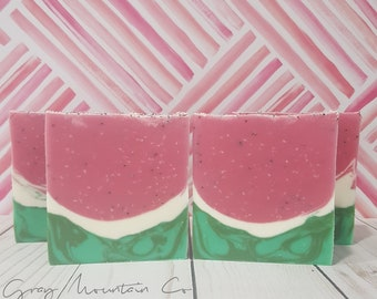 Watermelon Bubbly - Cold Process Soap