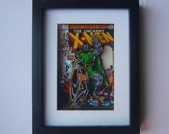 Uncanny X-Men  Comic 3D Shadow Box Framed Art  ( issue 145 ) diorama geek home decor marvel Dr Doom