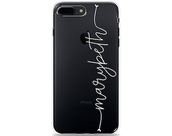 iphone 8 transparent case with name