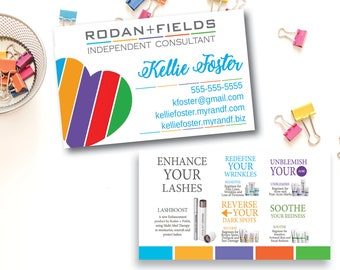 Business calling cards etsy rodan and fields business card printed rodan fields busines card rf reheart Image collections