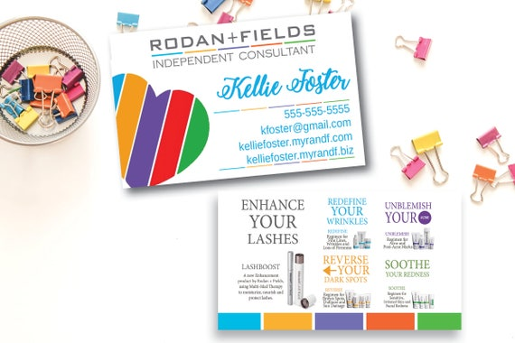 Rodan and fields business card printed rodan fields colourmoves