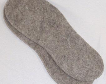 Natural Felt Insoles - Llama, Alpaca, Wool - US Made - Gift, Boots, Hiking, Skiing, Winter, Warm, Fishing