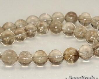 12mm Smoky Quartz Gemstone Round Loose Beads 7 inch Half Strand (90191357-B12-521)