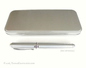 Storage Tin for Pens, optional fountain pen