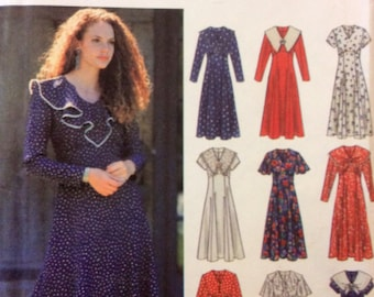 1990s boho dress with empire bodice Simplicity 8656 Uncut sewing pattern Multi size XS B 30.5-32.5 W 23-25 H 32.5-34.5 Retro 90s day dress