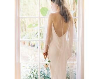 Wedding hair accessory, chapel veil, blusher veil, bridal veil- Style 2001