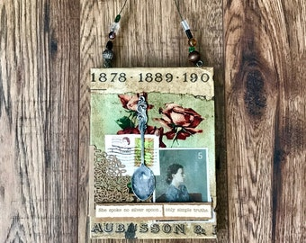 Silver Spoon, Collage Art, Women Empowerment, Women's Movement, Truth, Original Art,