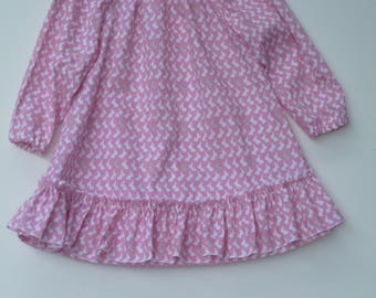 Easter bunny dress, Pink dress, Clothing for girls,size 3,6,12,18,24 months