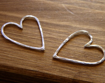 Wild Love Hearts in Sterling Silver - 1 Pair