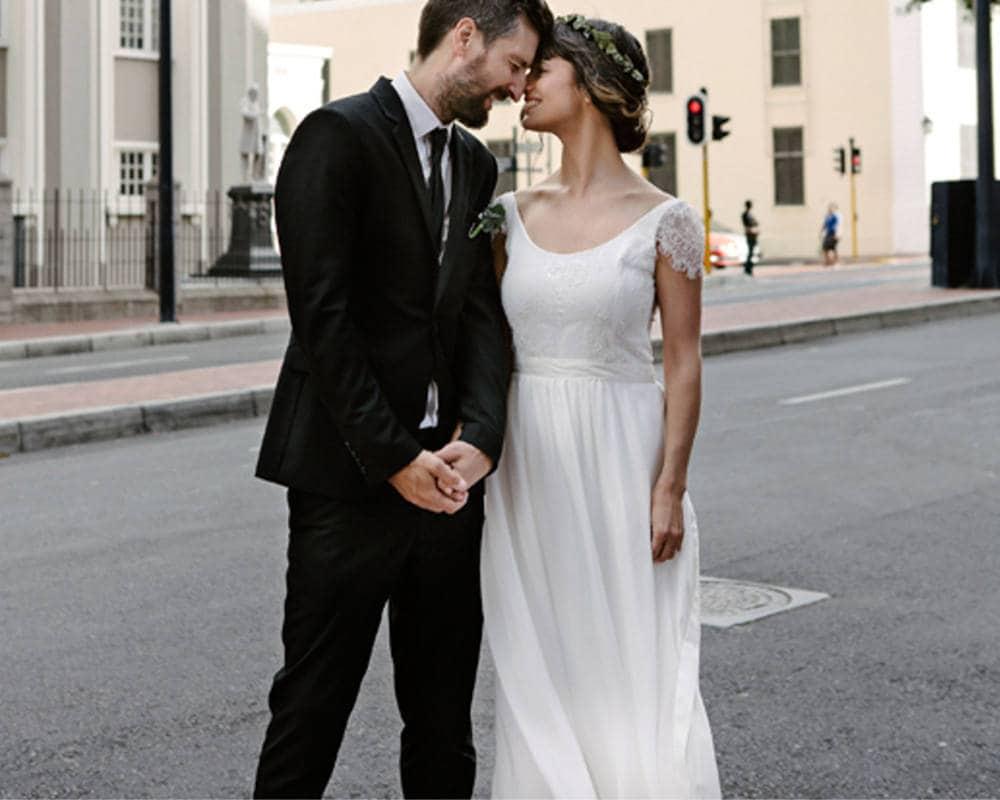 Boho Hochzeit drs böhmische Brautkleid einfache Strand