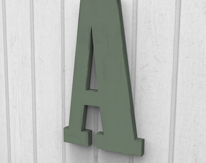 """Custom 12"""" Tall Letter A Cut and Painted 12"""" tall finished in your choice of Colors."""
