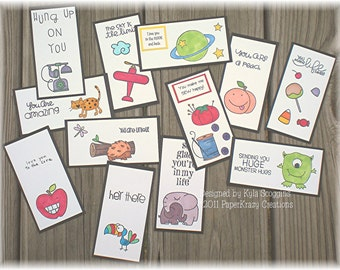 Lunch Box Love Notes Series 13a, Lunch Notes for Kids, Lunch Box Notes