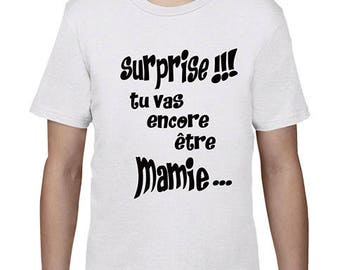 "Kids t-shirt ""surprise! You'll be Grandma again"""