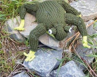 Sale-Knit Frog Stuffed Toy