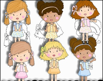 Girls Clipart - Tween Clipart - Instant Download - Commercial Use - Sweet Catrina