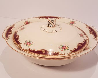 Myott Staffordshire covered casserole/vegetable dish