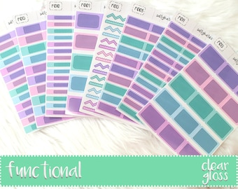 Planner Stickers - Clear Functional Stickers - Functional Planner Stickers - Clear Glossy Planner Stickers - Functional Glossy Stickers