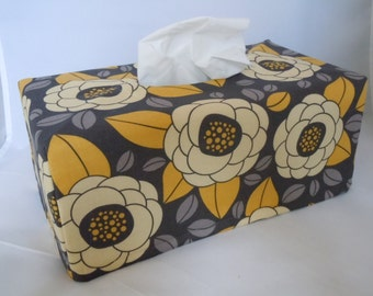 Ready To Ship -  BLOOM  Joel Dewberry  - Fabric Tissue Box Cover for Kleenex Ultra Long Box