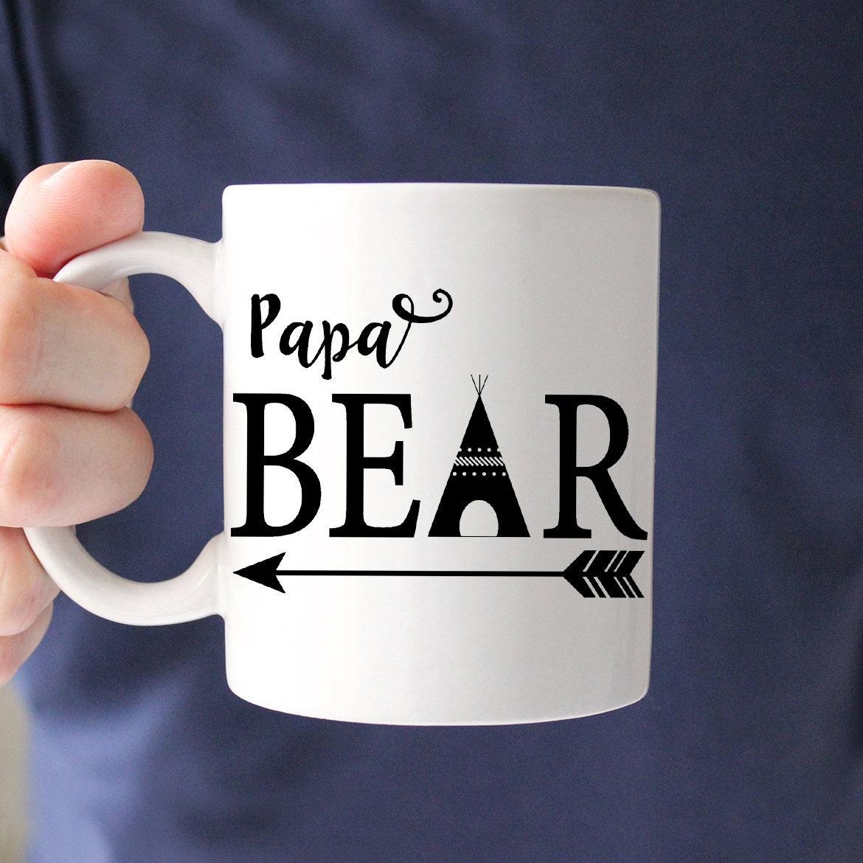 papa ours une tasse de caf cadeau de f te des p res parfait. Black Bedroom Furniture Sets. Home Design Ideas