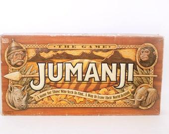 Vintage Original 1990s Jumanji Board Game, Nearly Complete (Needs dice) Milton Bradley 1995, Used Condition