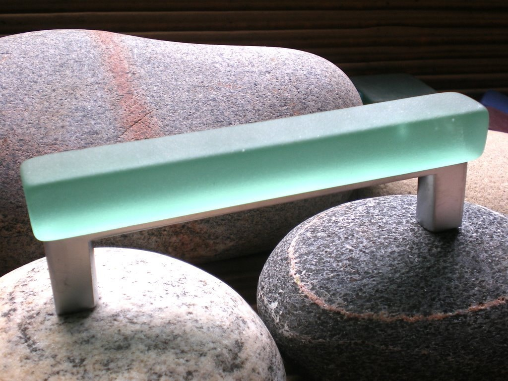 4center on center tumbled glass cabinet pull color 9