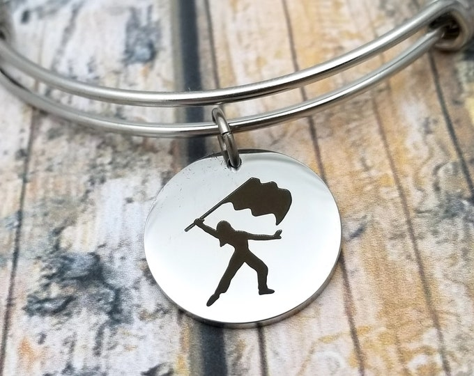 Color Guard Customizable Expandable Bangle Charm Bracelet, choose your charms, create your style, design your bracelet,
