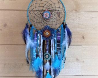 Handcrafted Dreamcatcher, OOAK, flowered headband
