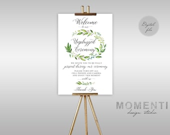 Unplugged Ceremony Sign, Unplugged Wedding Sign, Unplugged Sign, No Phones Sign, No Cameras Sign, No Cell Phone Sign, The Amy Collection