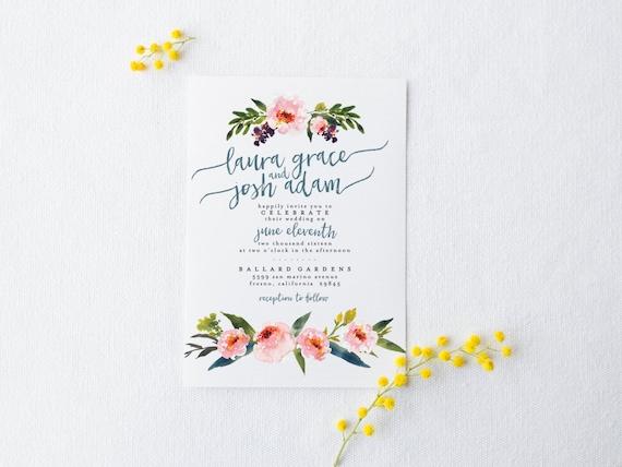 Rustic Romantic Wedding Invitations: DIY Romantic Wedding Invitation Suite Rustic Chic
