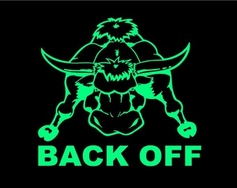 Back Off Bull Car Decal Auto Vehicle Window decal Sticker Bull Truck Rodeo Vinyl Decal Tailgater decal