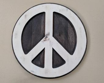 Wood Peace Sign, Peace Sign, Peace Sign Wall Art, Hippie Peace Sign