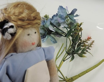 Doll ' ' Alice in Wonderland ' ' handmade