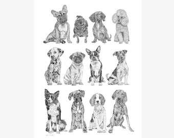 Mini Dogs Collection Print