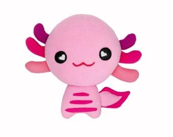 Axolotl plushie kawaii soft toy pillow cushion handmade mexican salamander